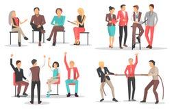 Οι άνθρωποι στην επιχειρησιακή κατάρτιση αυξάνουν τα προσόντα ελεύθερη απεικόνιση δικαιώματος