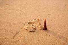 οι άνθρωποι στρώνουν με άμμο το ίχνος σύστασης Στοκ φωτογραφία με δικαίωμα ελεύθερης χρήσης