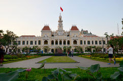 Οι άνθρωποι ταξιδεύουν στην πλατεία του Ho Chi Minh Στοκ φωτογραφία με δικαίωμα ελεύθερης χρήσης