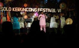 Οι άνθρωποι της Μαλαισίας συμμετείχαν επίσης στο φεστιβάλ keroncong Στοκ Εικόνες