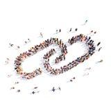 Οι άνθρωποι υπό μορφή αλυσίδας συνδέουν Στοκ εικόνα με δικαίωμα ελεύθερης χρήσης