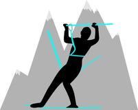 Οι άνοδοι ορειβατών από το βουνό Στοκ Εικόνα