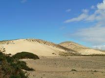 Οι άσπροι αμμόλοφοι της πλευράς Calma σε Fuerteventura Στοκ φωτογραφία με δικαίωμα ελεύθερης χρήσης