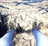 Οι Άλπεις κάτω από σας πόδια Στοκ Εικόνες