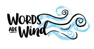 Οι λέξεις είναι σχέδιο τυπογραφίας αέρα Στοκ Εικόνα