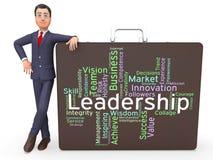 Οι λέξεις ηγεσίας αντιπροσωπεύουν την καθοδήγηση και τον έλεγχο επιρροής Στοκ Εικόνες