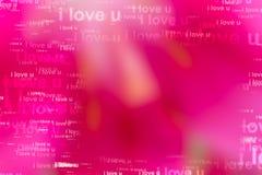 Οι λέξεις ι σας αγαπούν ως κόκκινο υπόβαθρο Στοκ Εικόνες