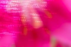 Οι λέξεις ι σας αγαπούν ως κόκκινο υπόβαθρο Στοκ Εικόνα