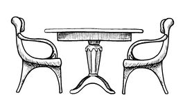 οι έδρες παρουσιάζουν &delta Διανυσματική απεικόνιση σε ένα ύφος σκίτσων Στοκ Εικόνες