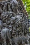Οι ήρωες των μύθων Krylov ` s, στο βάθρο του μνημείου του, Στοκ φωτογραφία με δικαίωμα ελεύθερης χρήσης
