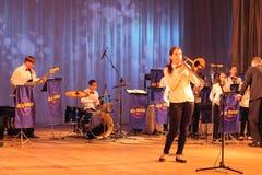 Οι ήχοι της μουσικής τζαζ Στοκ Εικόνα