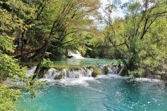 οι λίμνες κληρονομιάς της Κροατίας εμφανίζουν λίστα τον εθνικό κόσμο της ΟΥΝΕΣΚΟ plitvice πάρκων Στοκ φωτογραφία με δικαίωμα ελεύθερης χρήσης