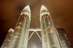 Οι δίδυμοι πύργοι της Μαλαισίας Στοκ Φωτογραφία