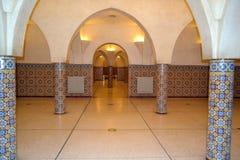 Οι αίθουσες hammam undergound στο Χασάν ΙΙ μουσουλμανικό τέμενος στη Καζαμπλάνκα Στοκ φωτογραφία με δικαίωμα ελεύθερης χρήσης