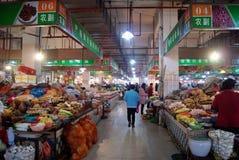 οι αγορές αγροτών της Κίνας Στοκ Φωτογραφίες