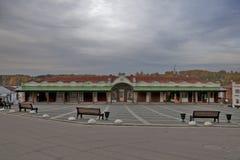 Οι αγορές arcade στο κεντρικό τετράγωνο Plyos είναι μια πόλη στην περιοχή Privolzhsky του Ιβάνοβο Oblast, Ρωσία Στοκ Φωτογραφία