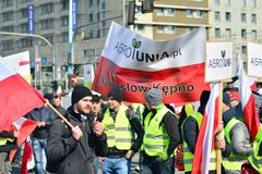 Farmers of the Agrounia union organised demonstration at the Artur Zawisza Square in the centre of Warsaw.
