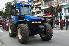 Οι αγρότες χτυπούν στην Ελλάδα Στοκ Εικόνες