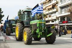 Οι αγρότες χτυπούν στην Ελλάδα Στοκ Φωτογραφία