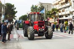 Οι αγρότες χτυπούν στην Ελλάδα Στοκ εικόνα με δικαίωμα ελεύθερης χρήσης