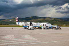 Οι αερογραμμές της Κροατίας ορμούν 8 Q400 στοκ εικόνες