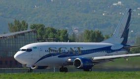 Οι αερογραμμές Boeing 737 ΠΑΡΑΛΛΑΓΏΝ ΉΧΟΥ ΤΖΑΖ επιταχύνουν πριν από την αναχώρηση απόθεμα βίντεο