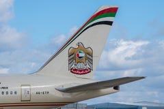 Οι αερογραμμές Etihad παρακολουθούν Στοκ εικόνες με δικαίωμα ελεύθερης χρήσης