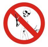 οι αλλοδαποί δεν επέτρ&epsilon Στοκ φωτογραφία με δικαίωμα ελεύθερης χρήσης