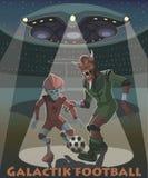 Οι αλλοδαποί παίζουν το γαλαξιακό ποδόσφαιρο 2 στοκ φωτογραφίες
