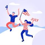 Οι αμερικανικοί λαοί γιορτάζουν τη ημέρα της ανεξαρτησίας στοκ εικόνες