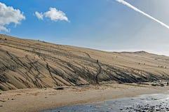 Οι αμμόλοφοι Pilat στη Γαλλία, ο υψηλότερος στην Ευρώπη, Γαλλία στοκ φωτογραφία