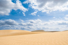 Οι αμμόλοφοι άμμου Viana εγκαταλείπουν - Deserto de Viana σε Boavista - το ακρωτήριο Στοκ Φωτογραφίες