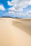 Οι αμμόλοφοι άμμου Viana εγκαταλείπουν - Deserto de Viana σε Boavista - το ακρωτήριο Στοκ Φωτογραφία