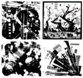 οι ανασκοπήσεις grunge θέτο&upsilon Στοκ εικόνες με δικαίωμα ελεύθερης χρήσης