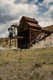 Οι ανθρακωρύχοι έσκαψαν επάνω τον άργιλο από το ιστορικό ορυχείο αργίλου στο Κολοράντο Στοκ Φωτογραφία