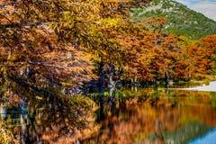 Οι αντανακλάσεις πτώσης συγκεντρώνουν το κρατικό πάρκο, Τέξας Στοκ φωτογραφία με δικαίωμα ελεύθερης χρήσης
