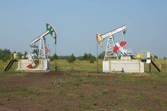 Οι αντλίες αντλιών πετρελαίου Στοκ Φωτογραφία