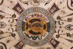 Οι ανώτατες νωπογραφίες τεμαχίζουν στο πράσινο δωμάτιο, Palazzo Vecchio, Φλωρεντία, Ιταλία Στοκ εικόνα με δικαίωμα ελεύθερης χρήσης