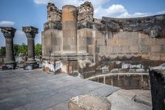 Οι αποκατεστημένες καταστροφές του ναού Zvarnots ο ναός Vigi Στοκ Εικόνες