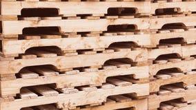 οι απομονωμένες παλέτες δίνουν άσπρο ξύλινο Στοκ Εικόνα