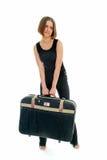 οι αποσκευές με βοηθού& Στοκ Εικόνες