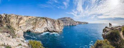 Οι απότομοι βράχοι Dingli στη Μάλτα στοκ εικόνα