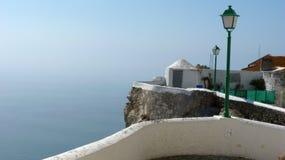 Οι απότομοι βράχοι Nazare Πορτογαλία στοκ φωτογραφίες με δικαίωμα ελεύθερης χρήσης
