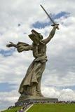 Οι απόψεις του αγάλματος της μητέρας πατρίδας καλούν Mamayev Kurgan Στοκ Εικόνα