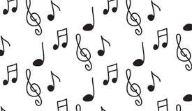 Οι απλές σύγχρονες αφηρημένες μονοχρωματικές μουσικές νότες ελεύθερη απεικόνιση δικαιώματος