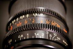 Οι αριθμοί λένε το φακό στη κάμερα Στοκ φωτογραφία με δικαίωμα ελεύθερης χρήσης