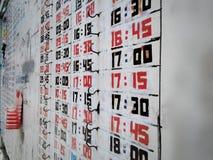 Οι αριθμοί ή οι επιστολές είναι μαύροι και κόκκινοι στην ξύλινη πλευρά και παρμένοι κοντά Στοκ εικόνα με δικαίωμα ελεύθερης χρήσης