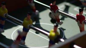 Οι αριθμοί για το παιχνίδι της περιστροφής επιτραπέζιου ποδοσφαίρου απόθεμα βίντεο