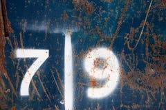 Επτά και εννέα Στοκ φωτογραφία με δικαίωμα ελεύθερης χρήσης