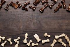Οι αριθμοί σκακιού για καφετή η επιτραπέζια ανασκόπηση Στοκ εικόνες με δικαίωμα ελεύθερης χρήσης